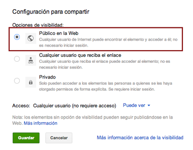 Guardar fotos Instagram en Google Drive