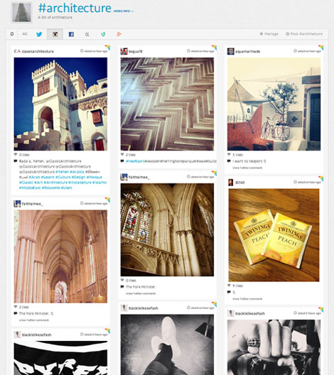 Crear tablero con fotos Instagram