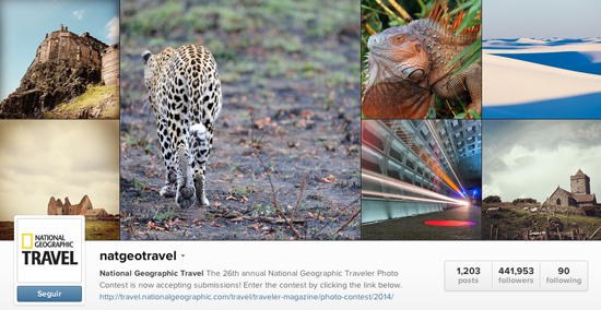 Perfil Instagram National Geographic Travel viajar
